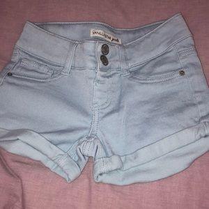 vanillaSTAR girls, light blue shorts
